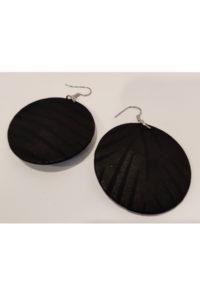 Pyöreät korvakorut - musta
