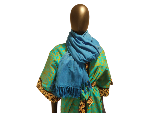hand woven cotton scarf
