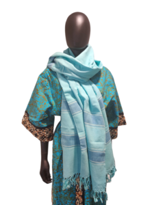 Hand woven classic cotton scarf