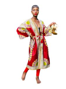 African Kimono rouge