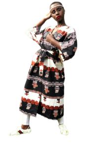 African Kimono Navy Blue