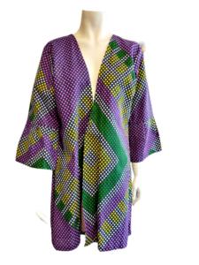 African Kimono Short violet.